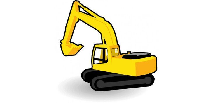 Clipart of an excavator