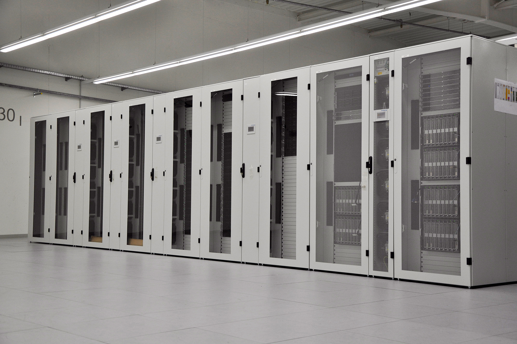 Photo of the new NEC Supercomputer