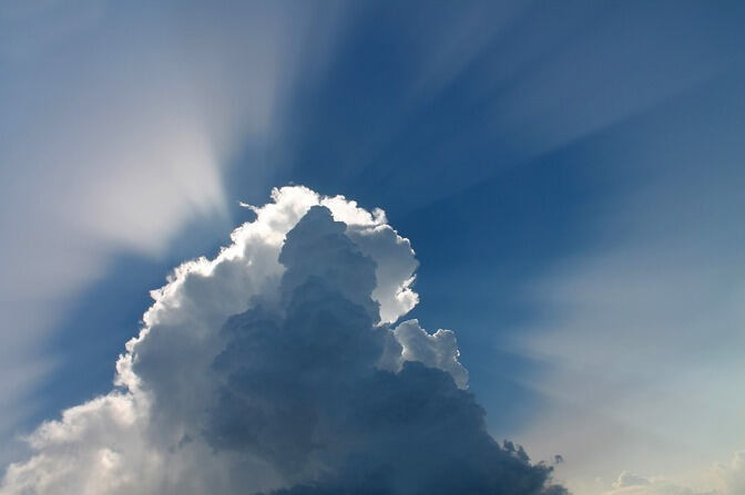 Photo of a cloud in the sky